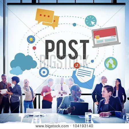 Post Blog Social Media Share Online Communication Concept