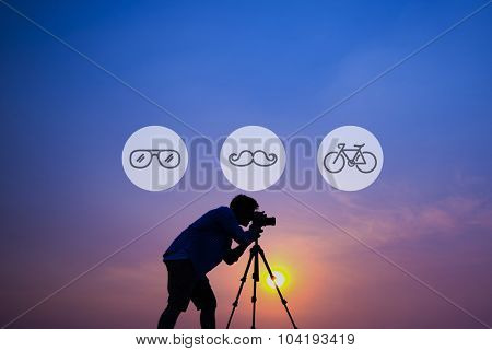 Cameraman Hipster Aspiration Lifestyle Concept