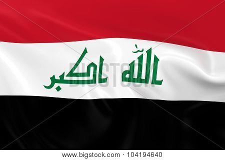 Waving Flag Of Iraq - 3D Render Of The Iraqi Flag With Silky Texture