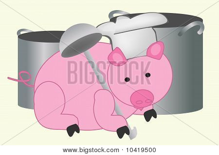 Pig with ladle