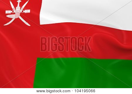 Waving Flag Of Oman - 3D Render Of The Omani Flag With Silky Texture