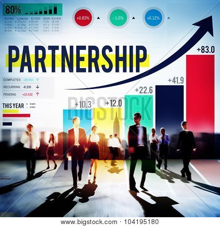 Partnership Connection Corporate Team Support Concept