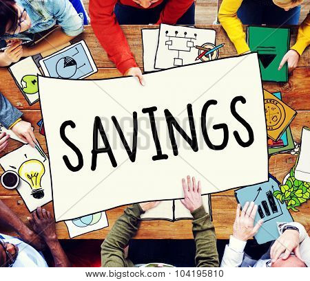 Savings Save Accounting Banking Money Concept
