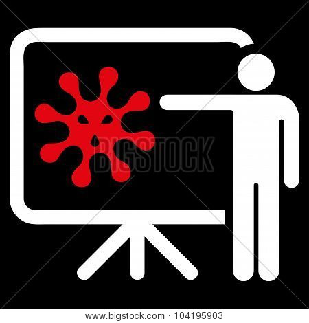 Virus Report Flat Icon