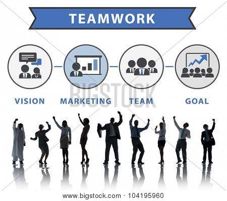 Business People Celebration Success Connection Teamwork Concept
