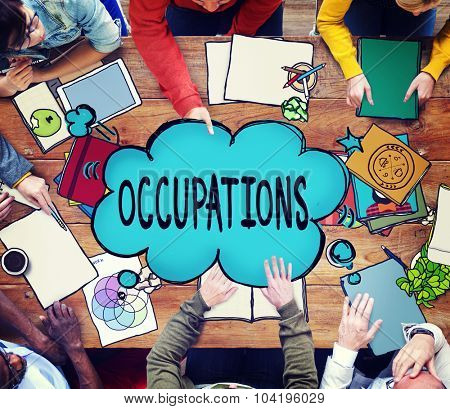Occupations Career Job Employment Hiring Recruiting Concept