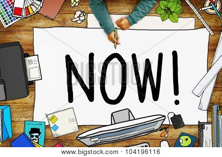 Now Start Suddenly Time Management Concept