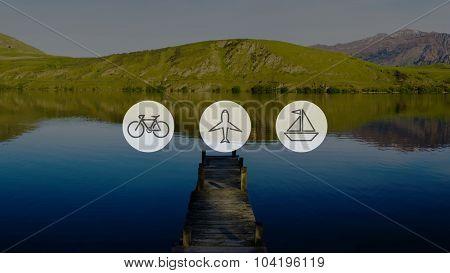 Transportation Transport Icon Travel Trip Concept