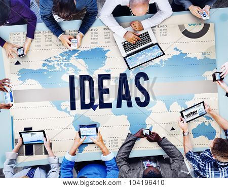 Ideas Inspiration Creativity Plan Vision Concept