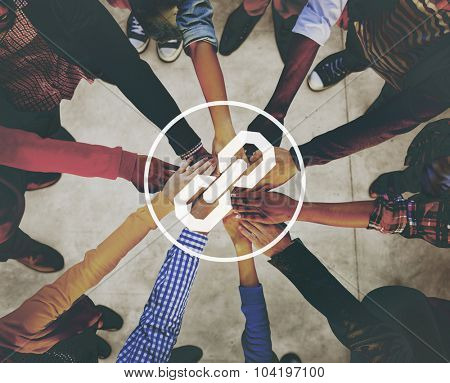 Connection Connected Corporate Teamwork Network Concept