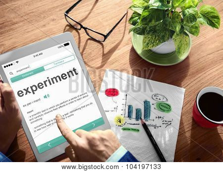 Experiment Experience Digital Device Internet Wireless Searching Concept