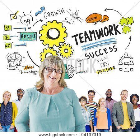 Teamwork Team Together Collaboration Diversity People Leadership Concept