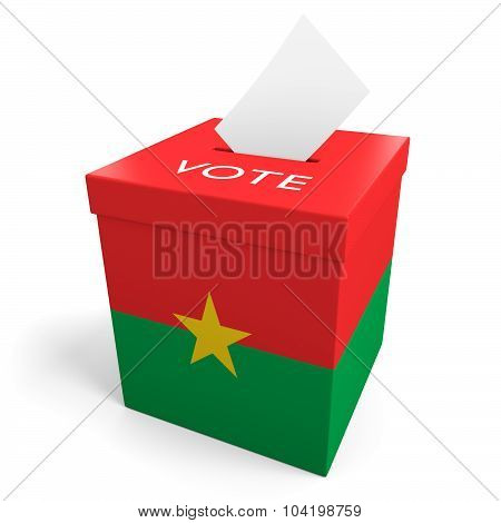 Burkina Faso election ballot box for collecting votes