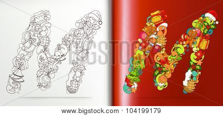 Christmas letters, vector
