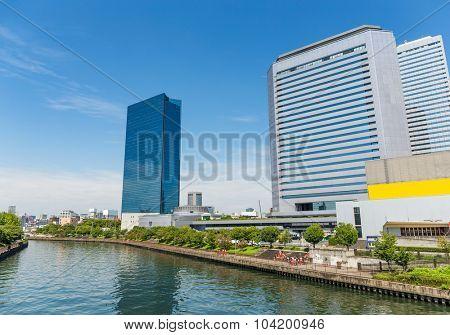 Osaka city at day time