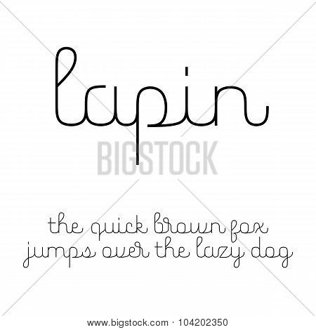 Cute Script Font With Latin Letters In Lowercase