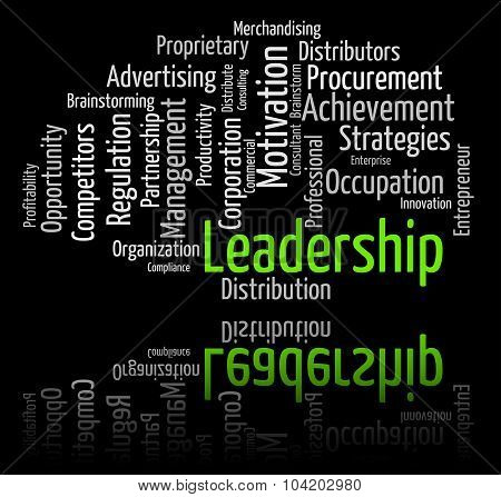 Leadership Word Shows Wordcloud Initiative And Management