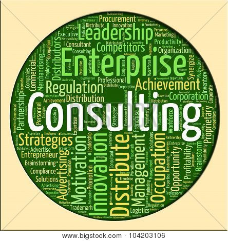 Consulting Word Indicates Seek Information And Confer