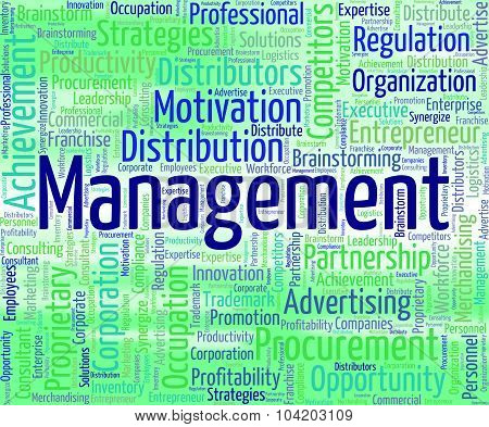 Management Word Indicates Organization Business And Words