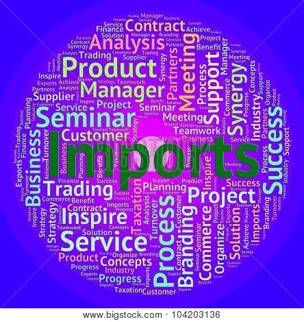 Imports Word Means Buy Abroad And Business