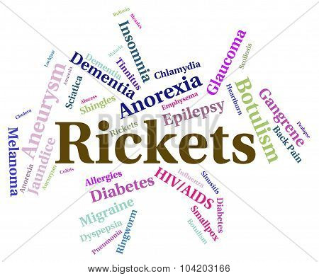 Rickets Illness Shows Defective Mineralization And Attack