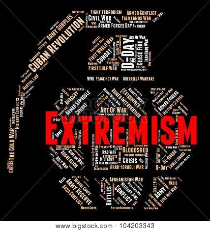 Extremism Word Represents Fundamentalism Wordclouds And Text