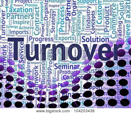 Turnover Word Shows Gross Sales And Business