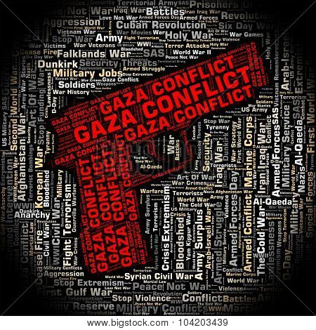 Gaza Conflict Shows Combat Wordclouds And Wars