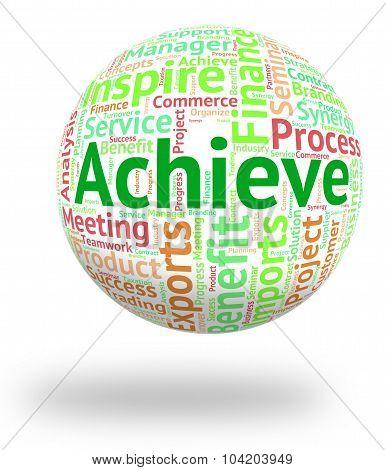 Achieve Word Shows Wordcloud Improvement And Achievement