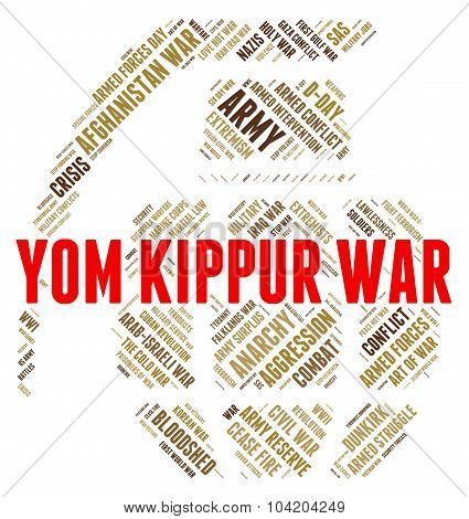 Yom Kippur War Indicates Military Action And Israeli