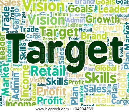 Target Word Indicates Words Wish And Goals