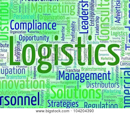 Logistics Word Represents Coordinate Wordcloud And Plans