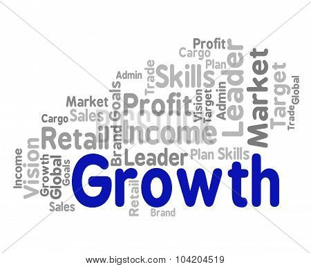 Growth Word Means Wordclouds Rise And Wordcloud