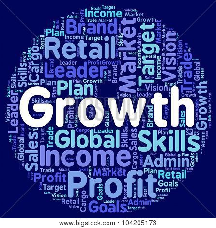 Growth Words Shows Develop Expansion And Development