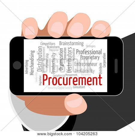 Procurement Word Shows Acquirement Buying And Attainment