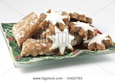 Gingerbread on a plate