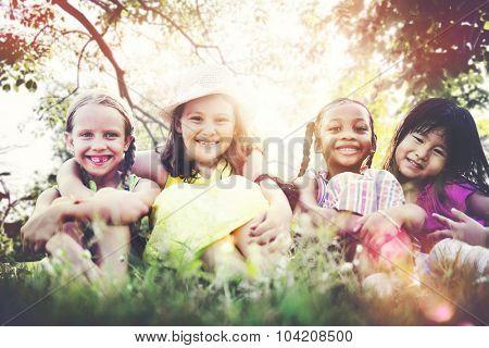 Girlfriends Femininity Friendship Closeness Smiling Concept
