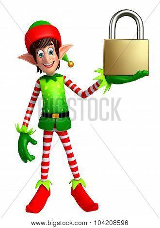 Cartoon Elves With Lock