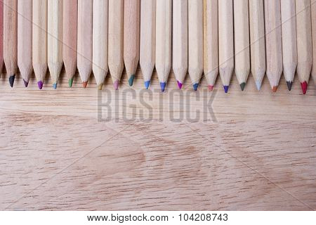 wooden colour pencils