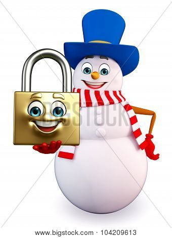 Snowman With Lock