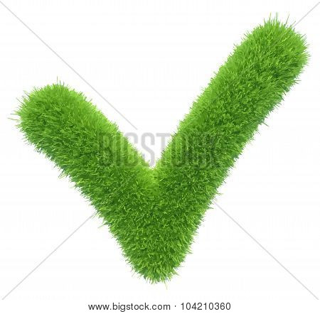 Vector green grass checkmark