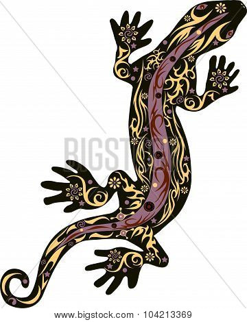 The lizard with a pattern, a reptile an iguana