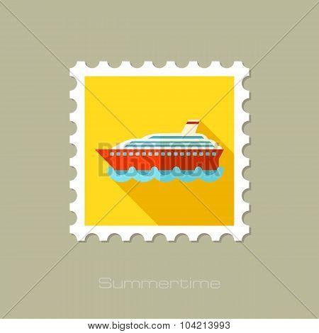 Cruise transatlantic liner ship flat stamp