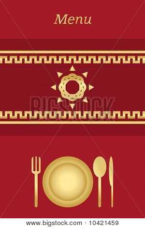 Cover for restaurant menu