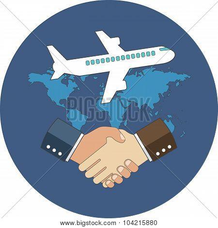 Business Meeting, International Partnership Concept.