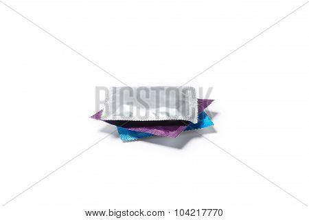 Condom Isolated On White Background