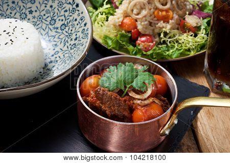 Beef Stew Set Dish