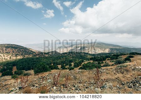 Cyprus. Beautiful natural scenery and stones