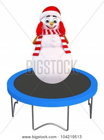Snowman With Trampoline Jumping Bed