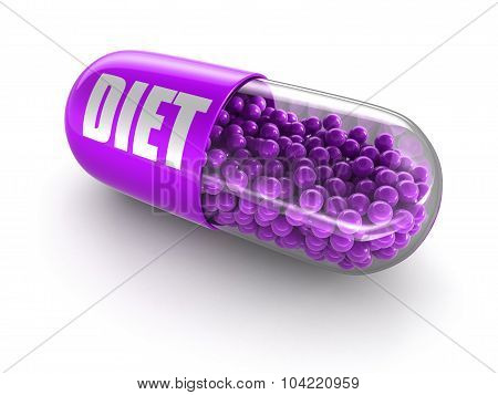 Pill diet (clipping path included)